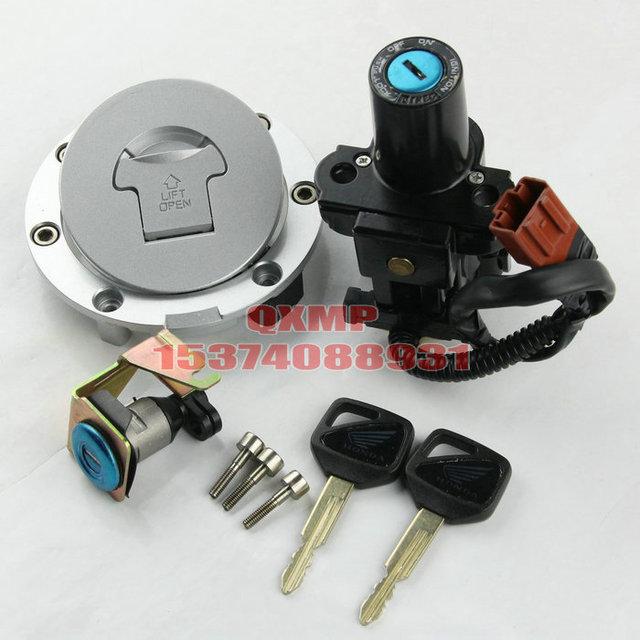 Para Honda CBR600RR 2007--2013 Tampa Boné de Gás Chave de Bloqueio Interruptor de Ignição Da Motocicleta Conjunto