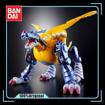 BANDAI Original Digimon monster Gabumon Metal Garurumon Action Figure Model Modification Deformable