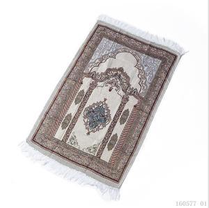 Image 4 - Woven Cotton Muslim Prayer Rug for Living Room Modern Carpet Soft Turkish Carpets Japanese Mat Tatami Summer Blanket with Bag