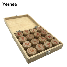 Yernea High-quality Chinese Chess Game Set New Solid Wood Chess Pieces Traditional Boutique Beech Chess Pieces Puzzle Game цена