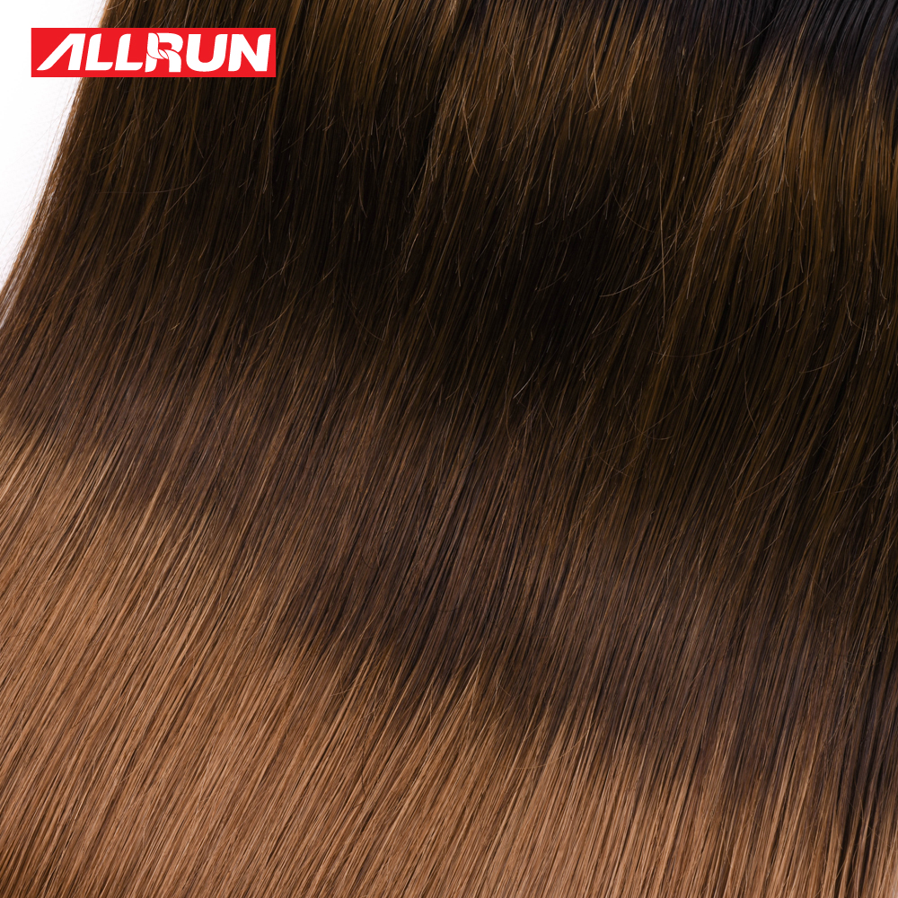 Allrun Pre-colored Human Hair Weave Malaysian Straight T1b/4/30 Color one Bundles 16-28 Inch Free Shipping remy