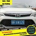 AUTO-CLUD Para Toyota Carmy car styling 2015 grade cromada guarnição grade dianteira guarnição tira carro modificado especial ABS cromado da grade
