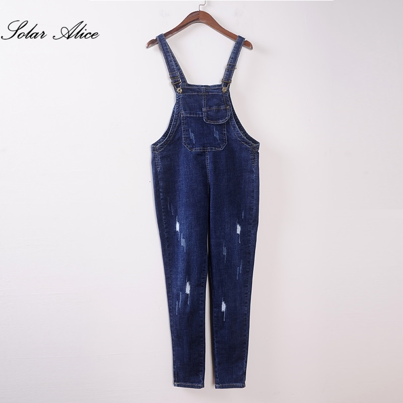 Bib Bj3015 Mid Students Spring Waist Jeans Trousers Free Overalls Ankle Pants Shipping 2019 Scratched New Pencil Thin length Girls Pxx6UqEv