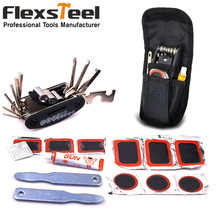 Multi Purpose Mountain Bike Bicycle Repair Set All in One Hand Tool Kit with Patch Wrench Glue Socket