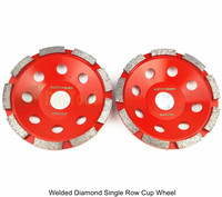 2pcs 4 5 Inch Diamond Single Row Grinding Cup Wheel For Concrete Granite And Hard Material