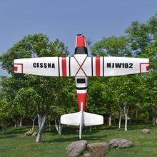 Cessna HJW182 1200 мм размах крыльев EPS тренер для начинающих RC самолет комплект