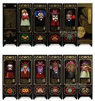 Офисный стол складной мини Экраны 6 присоединился к панели декоративные роспись по дереву бебу лица Макияж в Пекинская опера Пекинская маск...