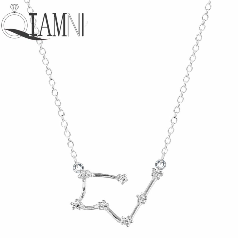Aliexpress Com Buy 12 Zodiac Signs Constellation: QIAMNI 925 Sterling Silver 12 Star Zodiac Constellation
