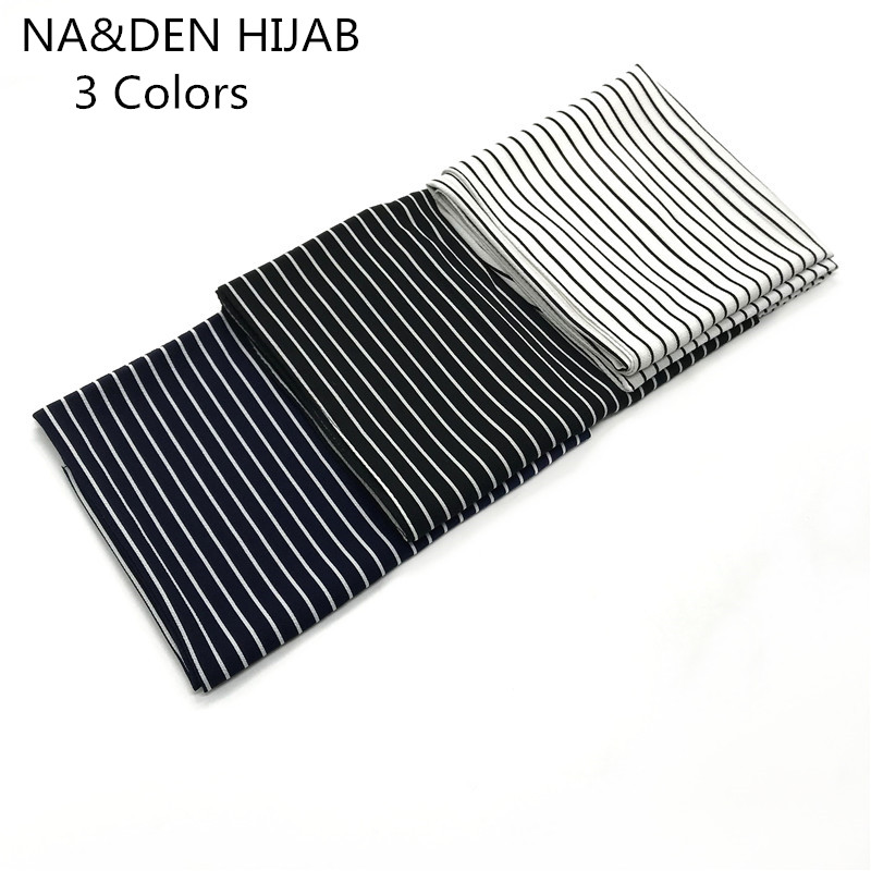 Fashion high quality chiffon stripe print solid color shawls pretty of the hook flower popular women