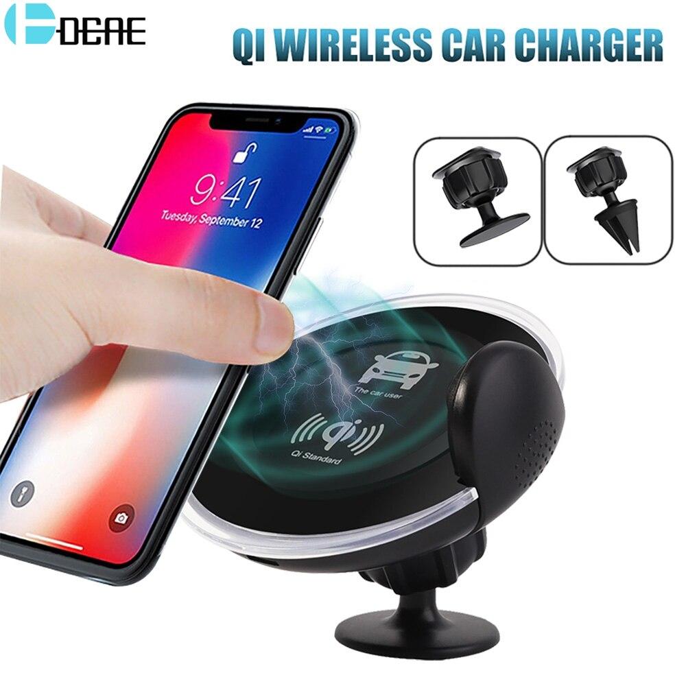DCAE 2 in 1 Qi Drahtlose Ladegerät Schnelle Lade für iPhone XS MAX XR X 8 Auto Telefon Halter Luft vent Halterung Ständer für Samsung S9 S8