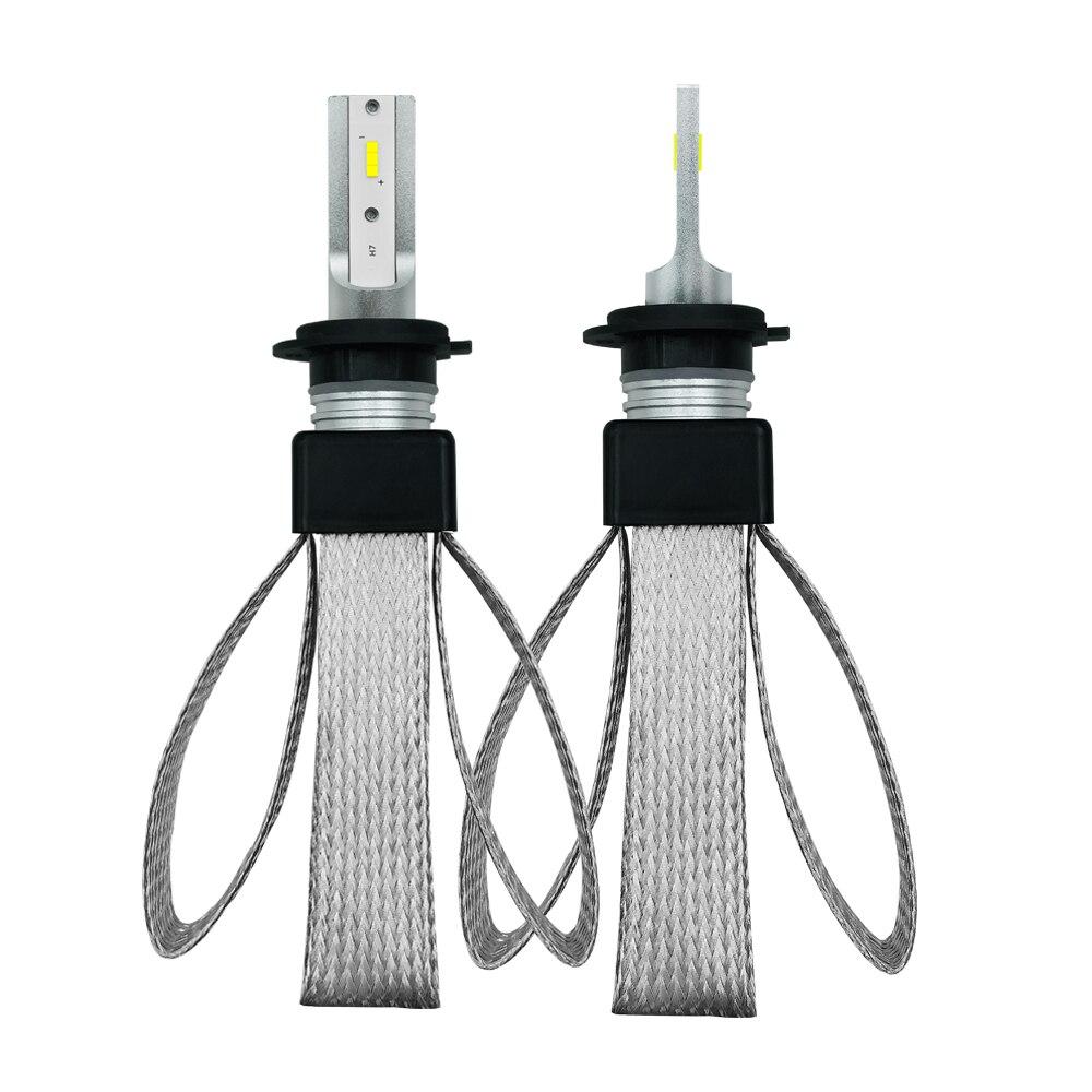 EURS T8 Car Headlight H4 H7 Led Bulbs H1 H3 H8 H11 HB4 HB3 9006 9005 H27 880 CSP Chips 9600LM 6000K 12V Auto Light Bulb Lamp