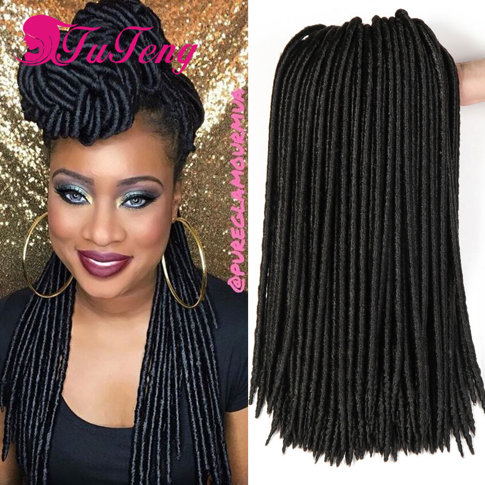 Goddess Faux Locs Crochet Hair Extensions 18 Inch