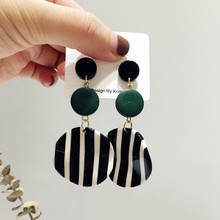 Hot Fashion Zebra Acrylic Earrings Irregular wood earrings for women Trendy Jewelry