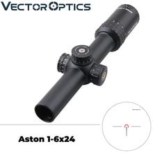 ناقلات البصريات العلامة التجارية العليا خط أستون 1 6x24 التكتيكية CQB Riflescope مع BDC شبكاني AR15 M4 بندقية نطاق عرض هش حاد