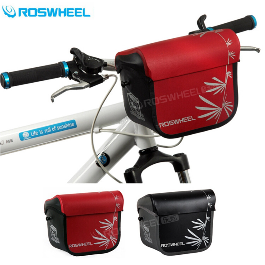 ROSWHEEL Black Bike Bags Bicycle High Quality Waterproof Handlebar Bag Camera Bags Shoulder leadbike a44 bike handlebar phone bag