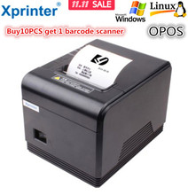 Purchase10PC get 1 scan 2016 new 80mm thermal receipt Small ticket barcode printer Q200 computerized cutter system help Home windows Linux