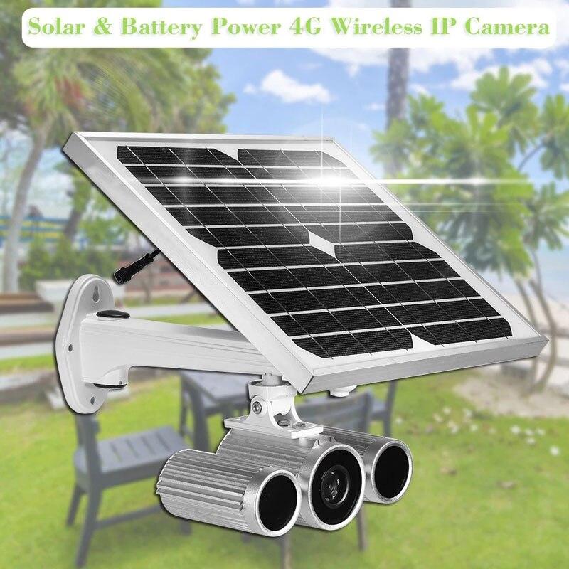 Caméra de sécurité extérieure étanche 1080 P solaire sans fil 4G caméra IP 12 langues Mobile vue à distance étoile Vision lumineuse