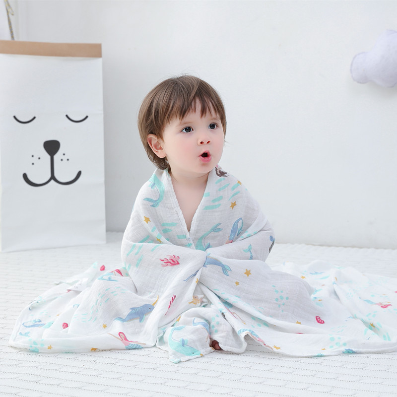 baby Muslin blankets infant swaddle me 70%bamboo+30% Soft Newborn Baby Bath Towel Swaddle Blankets Baby Wrap