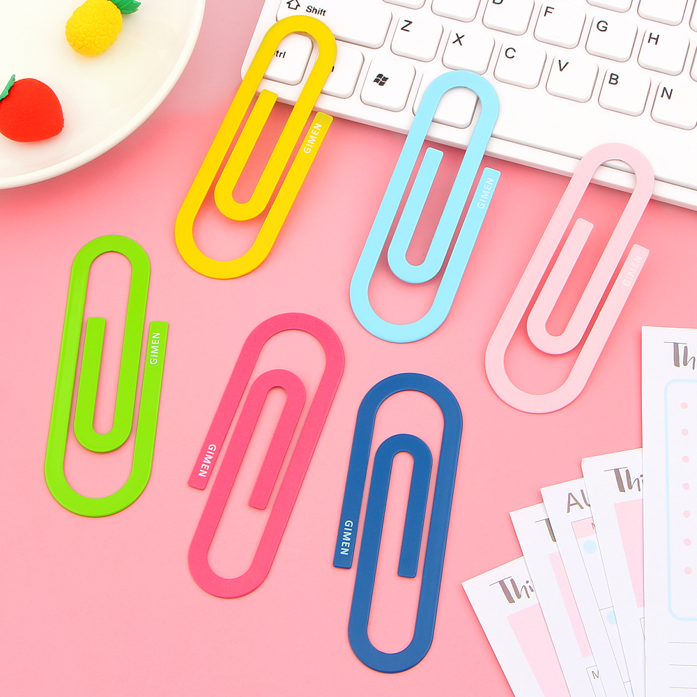 2 Pcs/lot Metal Material Paper Clips Color Funny Kawaii Bookmark Office School Stationer ...