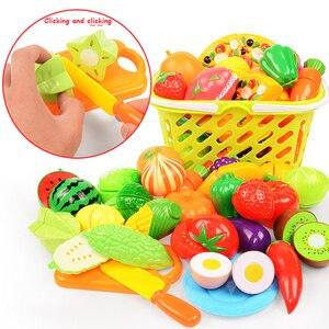 Image 3 - 1/6/10/37 pçs fingir jogar, de plástico, comida, brinquedos, novo, corte, frutas, vegetais, jogar, cozinha, brinquedos jogar casa brinquedo de cozinha em miniatura