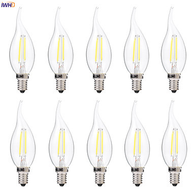 IWHD 2w E14 LED Candle Light Bombillas Vintage Retro Lamp Filament Edison Light Bulb Lamp Ampoule Industrial Decorative