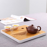 Small BambooTea Tray Drainage Water Small Kung Fu Tea Ceremony Table With Water Pallet Chinese Tea