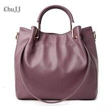 High Quality Women's Genuine Leather Handbags All-match Shoulder CrossBody Bags Fashion Messenger Bag Big Size Bucket Women Bags