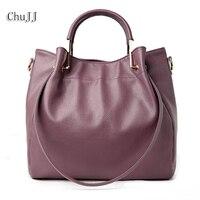 High Quality Women's Genuine Leather Handbags All match Shoulder CrossBody Bags Fashion Messenger Bag Big Size Bucket Women Bags