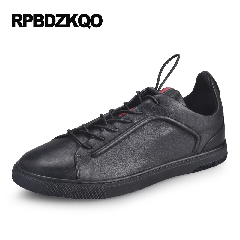 Skate Rubber Sole 2017 Casual Driving White Lace Up Real Leather Genuine Men Shoes Fashion Comfort Black Stylish Autumn Spring heyiyi men s 3d print casual shoes white black full grain leather flat lace up spring autumn rubber sole shoes