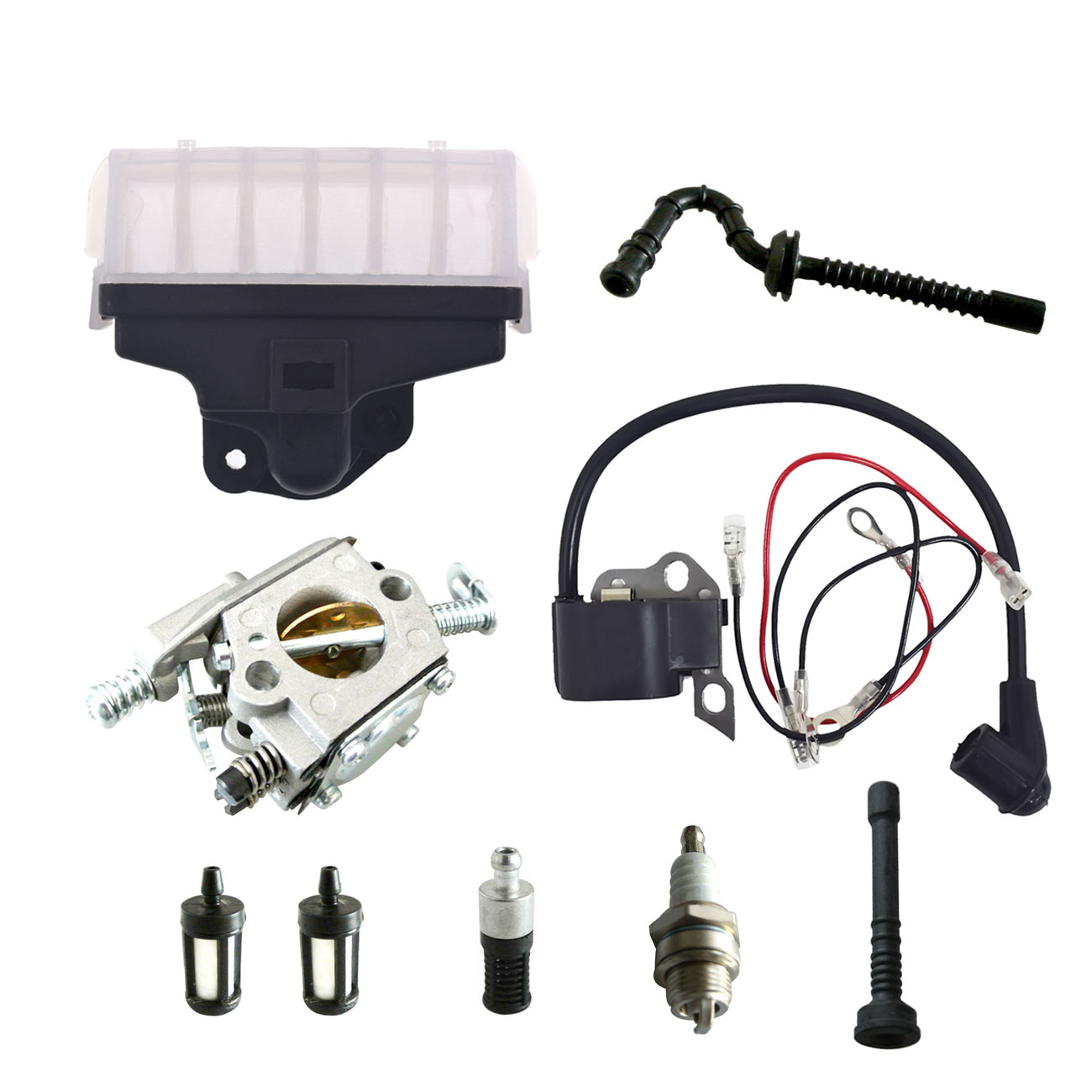 Ignition Coil Carburetor Kit Spark Plug For STIHL Chainsaw 021 023 025 MS210 MS230 MS250