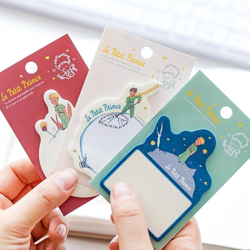 купить 1 X Cartoon Little Prince memo pad paper sticky notes planner sticker Paste kawaii stationery papeleria office school supplies по цене 78.88 рублей