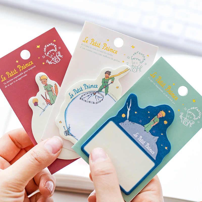 1 X bande dessinée petit Prince bloc-notes papier autocollants planificateur autocollant pâte kawaii papeterie papeleria bureau fournitures scolaires