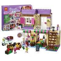389pcs City Heartlake Food Market Building Blocks Set Mia Maya Figures Brick Toys Compatible With Legoingly