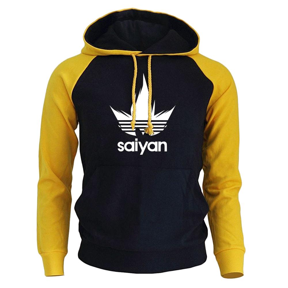 Men's Hoodies Sweatshirt Raglan Dragon-Ball-Z Anime Autumn Winter Super-Saiyan Hot-Sale