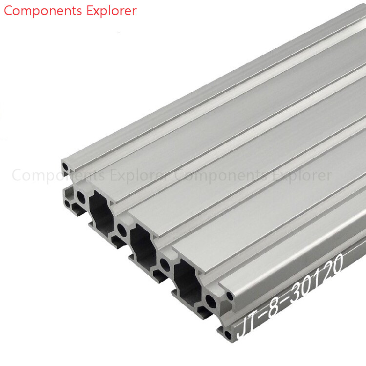Arbitrary Cutting 1000mm 30120 Aluminum Extrusion Profile,Silvery Color.