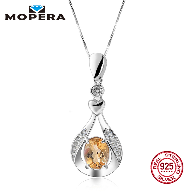 Mopera water drop pendant 21ct oval natural citrine jewelry 925 mopera water drop pendant 21ct oval natural citrine jewelry 925 sterling silver necklaces pendants mozeypictures Choice Image