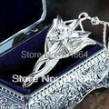 Free Shipping - 925 sterling silver The Arwen Evenstar Pendant Necklace Gift metal case packed