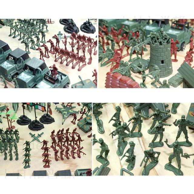 307pcs/lot Soldier Model Toy Military Plastic Army Men Figures Accessories Educational Toys for Children Birthday Boys Gifts 2
