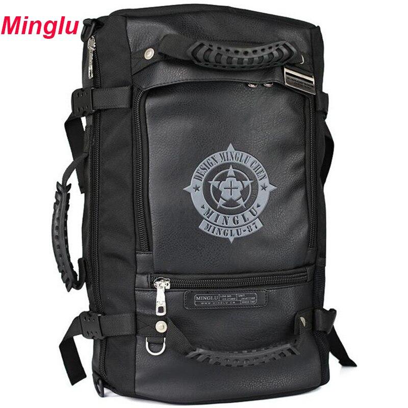 MingLu new Multi function Men s Backpacks Casual 15 6 Inch Laptop Bag High capacity Women