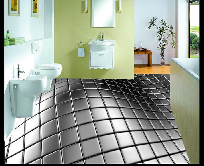 ФОТО 3D wallpaper custom mural beauty Abstract stainless steel 3 d 3 d floor tile floor pvc wallpaper home decoration