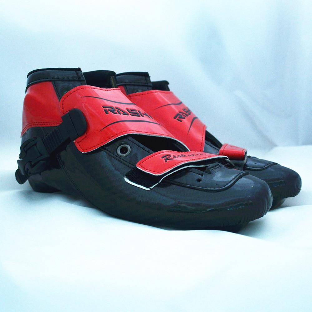 Prix pour Rasha inline patins chaussures patins à roulettes enfant adulte de patinage de vitesse boot rouge couleur inline patins hommes/femmes patinage de vitesse