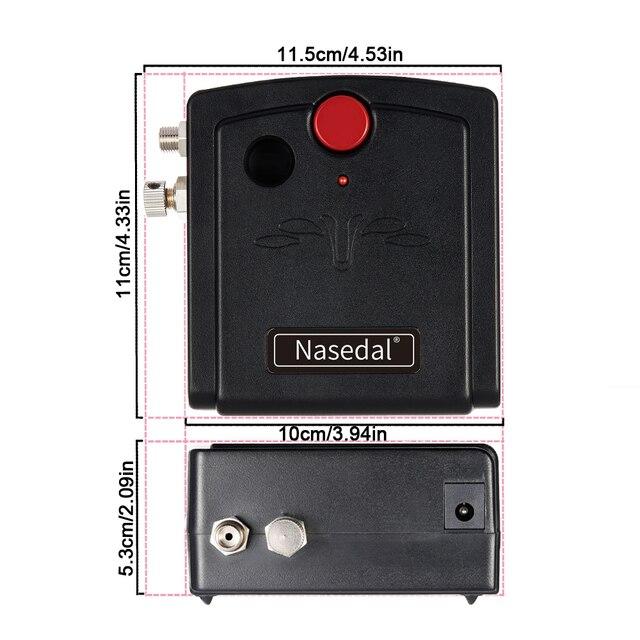 Nasedal, NT-19, pistola pulverizadora de doble acción, aerógrafo con compresor, Kit de aerógrafo de 0,3mm para aerógrafo de uñas, modelo/pastel/Pintura de coches