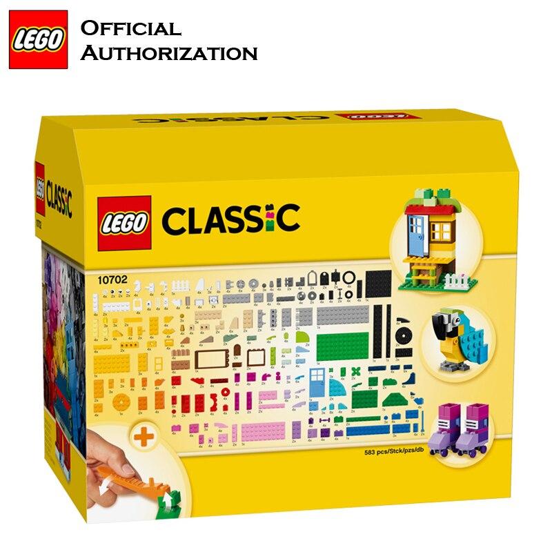 LEGO 583 pcs Klassieke Speelgoed Stapelen Blokken Doos Kinderen Speelgoed Educatief & Leren Lego Building Speelgoed Blocos De Construcao 10702 - 4