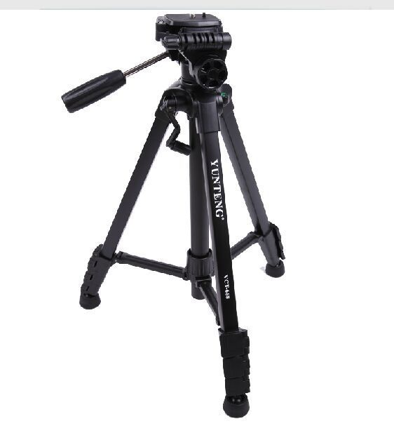 New professional aluminum alloy Yunteng VCT-668 Tripod for SLR/DSLR Camera Maximum load 3KG with carry bag new professional aluminum alloy yunteng vct 668 tripod for slr dslr camera maximum load 3kg with carry bag
