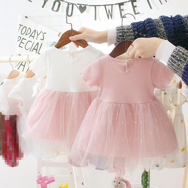 Nowonarodzona dziewczynka sukienka dla dziewczynki 1 rok sukienka urodzinowa 2019 nowych moda śliczna księżniczka sukienka dla dzieci odzież dla niemowląt maluch sukienki