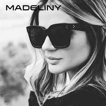 05c64c615c MADELINY gafas de sol de moda las mujeres Vintage diseño de marca de lujo  cuadrada de gafas de sol marco grande tonos gafas UV400 MA033