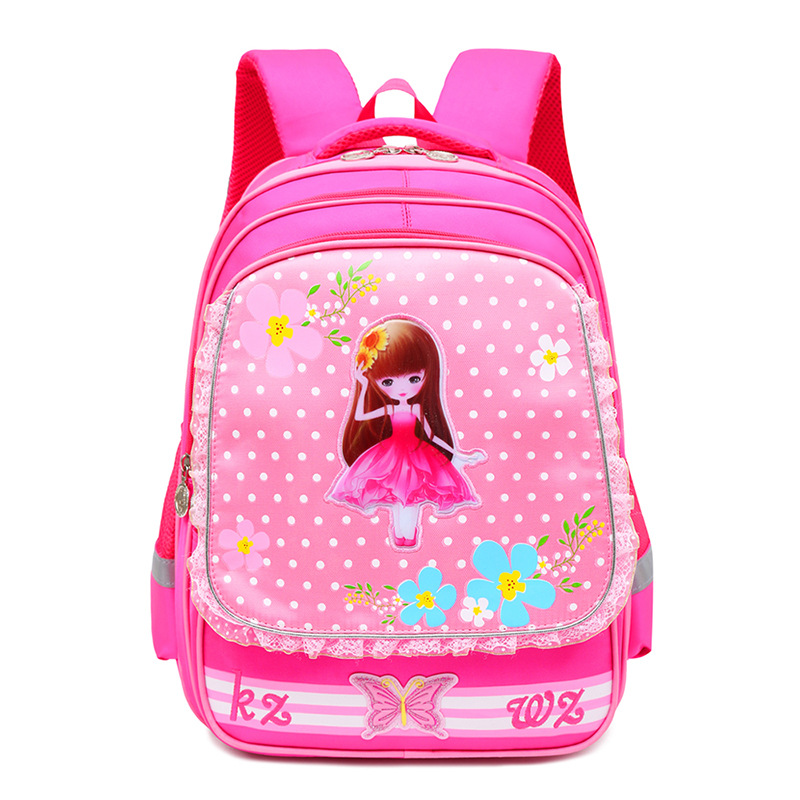 School Backpack For Girls Cartoon princess Primary School Grade 1-4 Children Student Backpack schoolbag Kids Knapsack mochila(China)