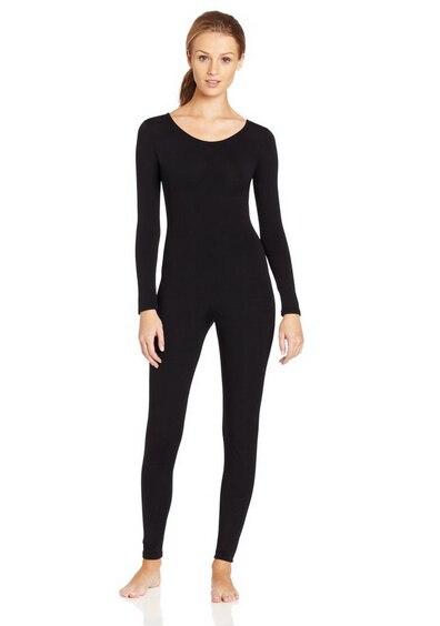 plus size scoop neck full body spandex dance unitard bodysuit