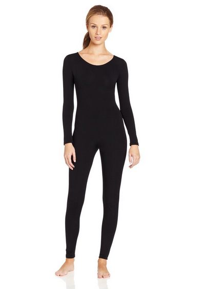Plus Size Scoop Neck Full Body Spandex Dance Unitard Bodysuit Costumes  Workout Gymnastics Long Sleeve Black Unitard For Women 404fe54ef96e