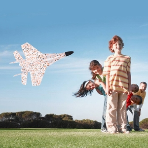 Image 2 - DIY Kids Toys Hand Throwing Model Airplane Foam Aircraft Stunt Luminous Education EPP Glider Fighter Planes Toys For Children
